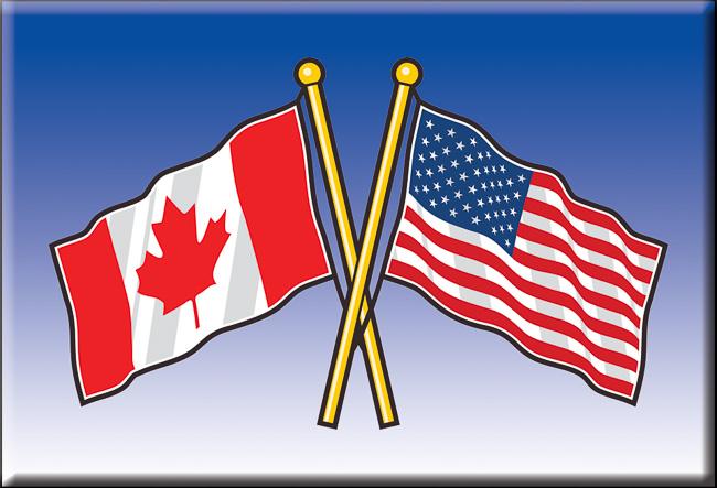 canada u s friendship flags canoe valley